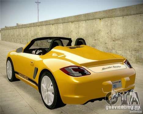Porsche Boxter Spyder для GTA San Andreas вид слева
