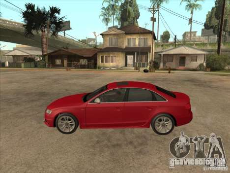 Audi S4 2010 для GTA San Andreas вид слева