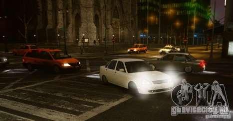 Lada Priora Dag Style для GTA 4 вид сзади слева