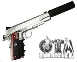 Silverballer с глушителем из Hitman для GTA San Andreas