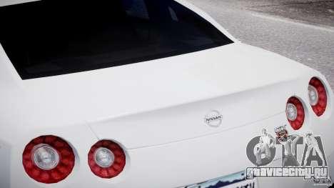 Nissan Skyline GT-R R35 для GTA 4 вид сверху