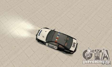 BMW M3 E92 Police для GTA San Andreas вид справа