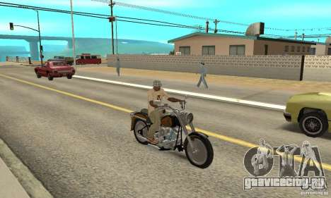Harley Davidson FLSTF (Fat Boy) v2.0 Skin 3 для GTA San Andreas вид справа