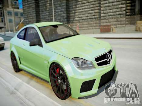 Mercedes-Benz C63 AMG Black Series 2012 v1.0 для GTA 4 вид изнутри