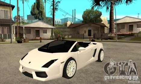 Lamborghini Gallardo Spyder v2 для GTA San Andreas