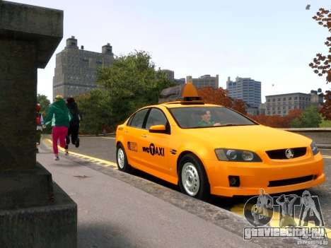 Holden NYC Taxi для GTA 4 вид сзади