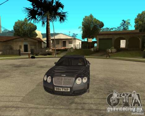 Bentley Continental GT для GTA San Andreas вид сзади