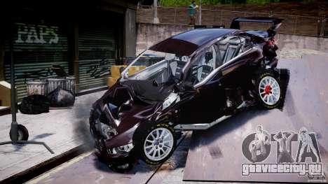 Mitsubishi Lancer X для GTA 4 вид снизу