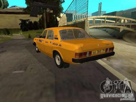 ГАЗ 31029 Такси для GTA San Andreas вид сзади слева