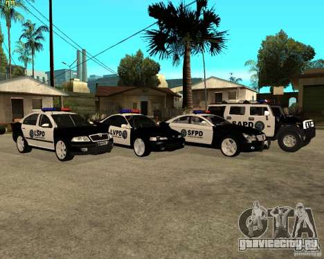 GTA San Andreas SAPD POLICE PACK для GTA San Andreas вид сзади слева
