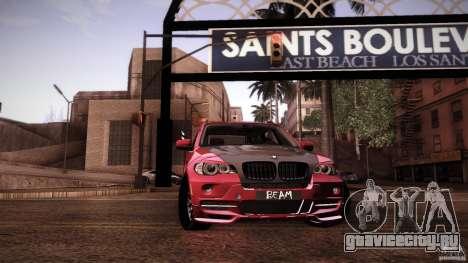 BMW X5 with Wagon BEAM Tuning для GTA San Andreas салон