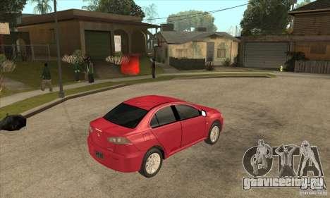 Mitsubishi Lancer для GTA San Andreas вид справа