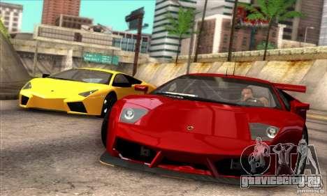 Lamborghini Murcielago R-SV GT1 для GTA San Andreas вид справа