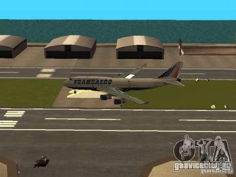 Boeing 747-400 для GTA San Andreas вид изнутри