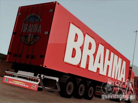Прицеп для Scania R620 Brahma для GTA San Andreas вид изнутри