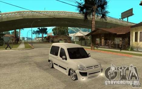 Citroen Berlingo 2007 для GTA San Andreas вид сзади