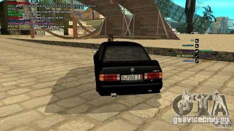 BMW M3 E30 1989 для GTA San Andreas вид сзади слева