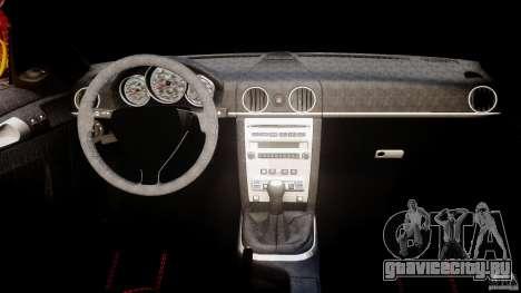 Ruf RK Spyder v0.8Beta для GTA 4 вид справа