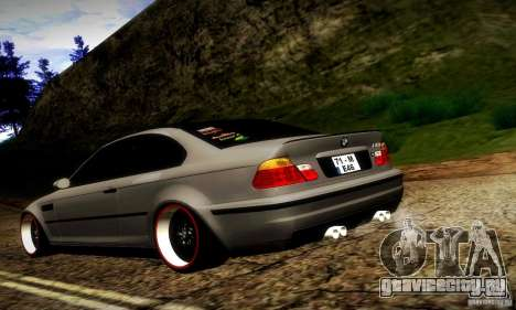 BMW M3 JDM Tuning для GTA San Andreas вид сзади слева