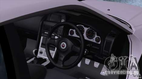 Nissan Skyline GTR-34 M-spec Nur для GTA San Andreas вид справа
