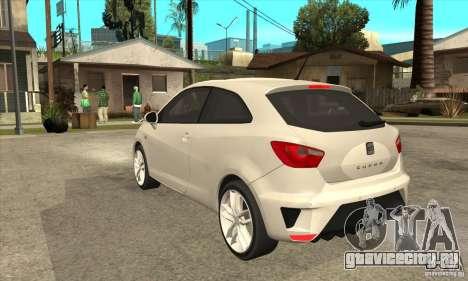 Seat Ibiza Cupra 2009 для GTA San Andreas вид сзади слева