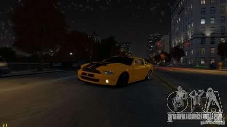 Ford Shelby Mustang GT500 2011 v2.0 для GTA 4 салон