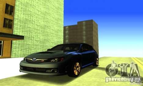Subaru Impresa WRX STI 2008 для GTA San Andreas вид сбоку