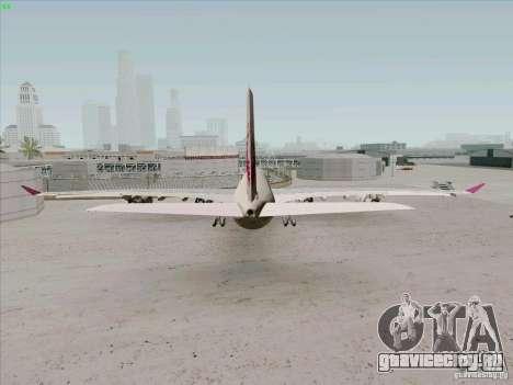 Airbus A-340-600 Quatar для GTA San Andreas вид сзади слева