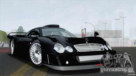 Mercedes-Benz CLK GTR Race Road Version Stock для GTA San Andreas вид сзади