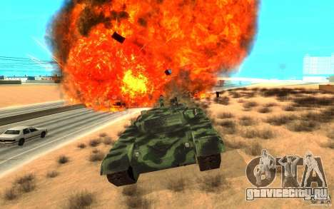 Танк T-72 для GTA San Andreas вид изнутри