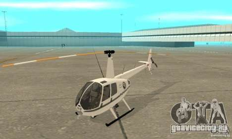Robinson R44 Raven II NC 1.0 Белый для GTA San Andreas вид слева