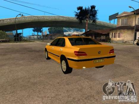 Peugeot 406 Taxi для GTA San Andreas вид слева