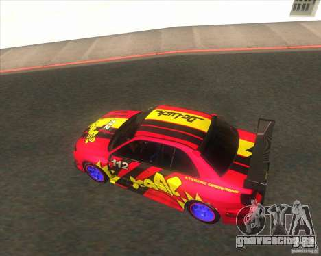 Subaru Impreza STi tuned для GTA San Andreas вид сбоку