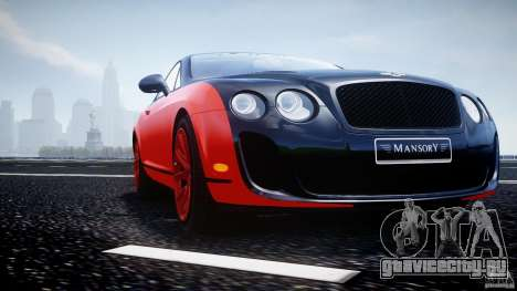 Bentley Continental SS 2010 Le Mansory [EPM] для GTA 4 двигатель
