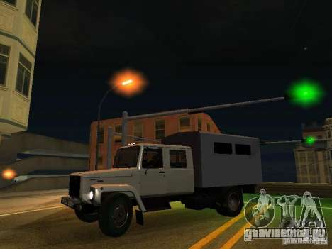 ГАЗ 3309 Егерь для GTA San Andreas вид изнутри