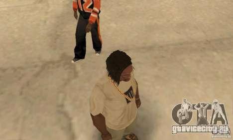 Длинные тёмные волосы для GTA San Andreas третий скриншот