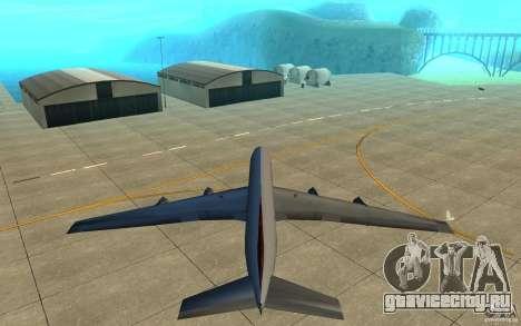 Qantas 707B для GTA San Andreas вид изнутри