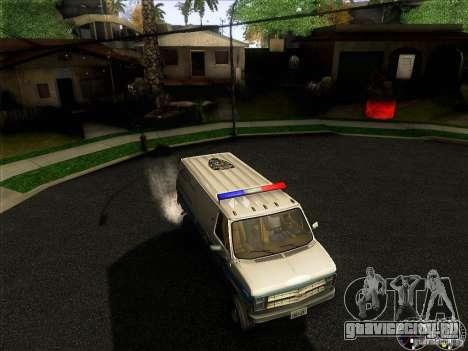 Chevrolet VAN G20 NYPD SWAT для GTA San Andreas вид сверху