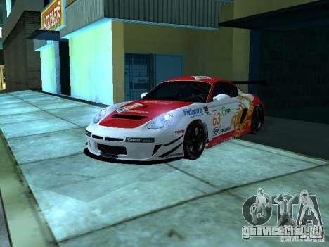 Porsche Cayman S NFS Shift для GTA San Andreas вид изнутри
