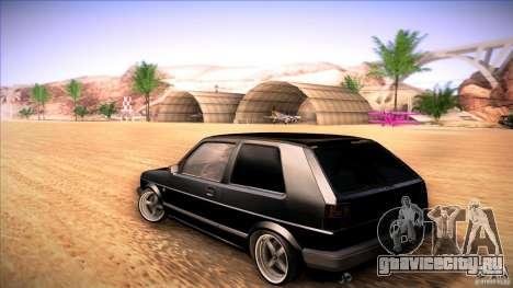 Volkswagen Golf MK II для GTA San Andreas вид сзади слева