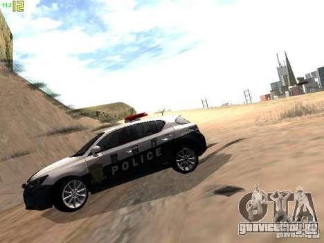 Lexus CT200H Japanese Police для GTA San Andreas вид справа