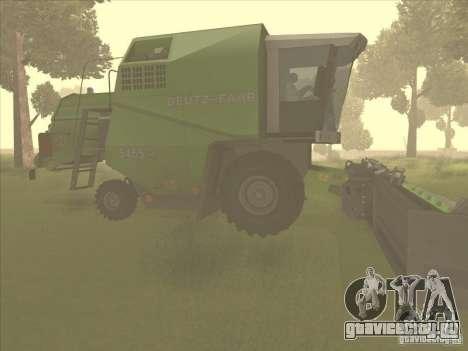 Deutz Harvester для GTA San Andreas вид сзади слева