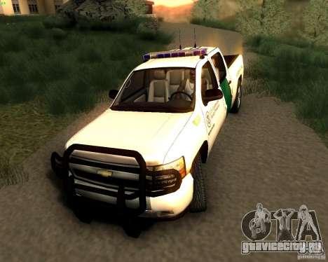 Chevrolet Silverado Police для GTA San Andreas вид справа