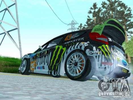 Ford Fiesta Ken Block Dirt 3 для GTA San Andreas вид справа