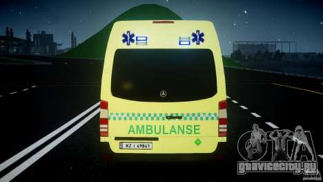 Mercedes-Benz Sprinter PK731 Ambulance [ELS] для GTA 4 колёса