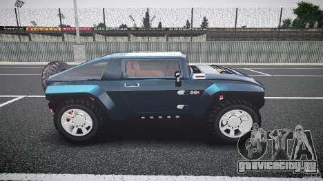 Hummer HX для GTA 4 вид изнутри