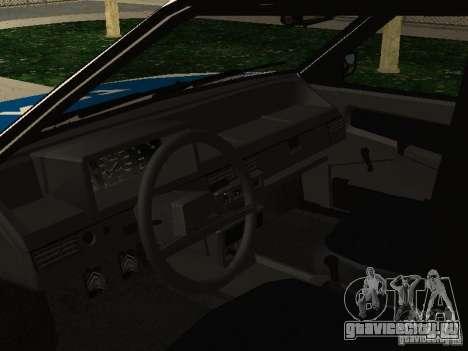ВАЗ 2109 Милиция для GTA San Andreas вид справа