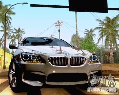 BMW M6 2013 для GTA San Andreas вид сзади