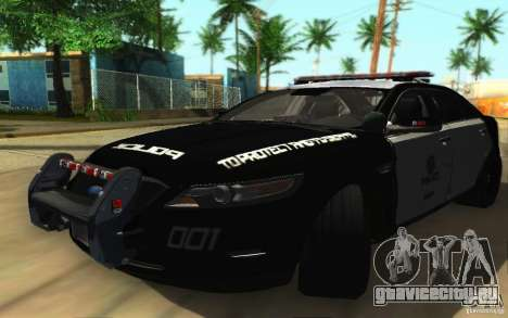 Ford Taurus 2011 LAPD Police для GTA San Andreas вид слева