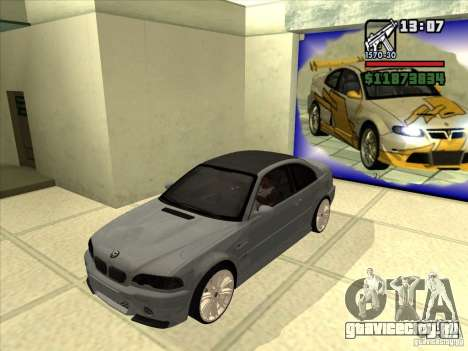 BMW M3 CSL E46 G-Power для GTA San Andreas вид сзади